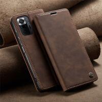 For Xiaomi Redmi Note 10 Pro Max CaseMe Leather Magnetic Case Flip Wallet Cover