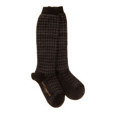 DOLCE & GABBANA Everyday Socks Size M / 6-8Y Long Houndstooth Made in Italy
