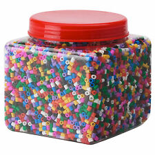 IKEA PYSSLA Large Jar of Children's Multicoloured Crafting Beads (700g)