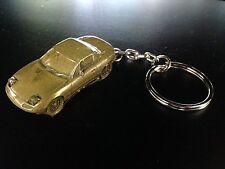 Mazda MX5 Hard Top Brass Effect 3D split-ring keyring FULL CAR ref124