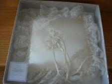 "HALLMARK Wedding Collection Cream Satin Ring Bearer Pillow White Lace Trim 8"""