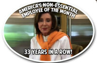 Nancy Pelosi Non-Essential Employee Trump  Decal Sticker