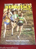 ATHLETICS WEEKLY - WORLD CROSS COUNTRY PREVIEW - MARCH 19 1983 VOL 37 # 12