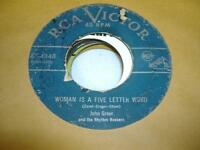 HEAR! R&B 45 JOHN GREER Woman Is a Five Letter Word on RCA Victor