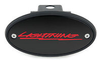 Lightning Receiver Hitch Cover Black with Red - Ford SVT Lightning F-150