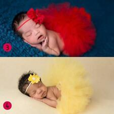Red Newborn Tutu Photo Prop with Flower