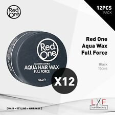 12pcs Red One Aqua Hair Gel Wax Black 150ml Free Agiva #04 Wax! Hair Style Salon