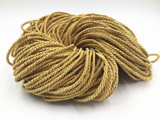 gold Colors Twisted Rope Three Strands of Cord for Cushion Pillow Bag 3 mm diame