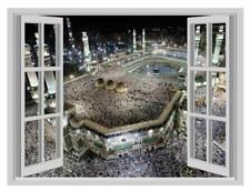 3D Islamic Hajj Makkah Window Poster Wall Sticker Art Vinyl Decal Decor Mural