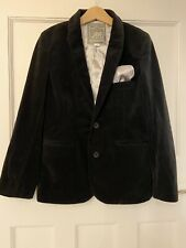 Monsoon Notting Hill W11 Boys Black Velvet Blazer Jacket,Age 9-10 Immaculate