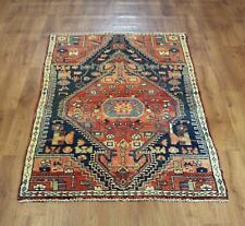 OLD WOOL HAND MADE  ORIENTAL FLORAL RUNNER AREA RUG CARPET  195 X 105 cm