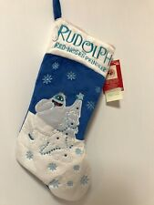 Rudolph Bumble Abominable Snowman Blue/ White Christmas Stocking -New with Tag