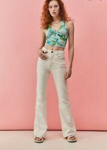 BDG Milk Beige Flare Jeans BNWT Size 29W 30L RRP £55 Urban Outfitters