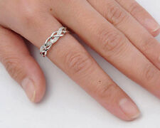 USA Seller Weaved Ring Sterling Silver 925 Best Deal Clear CZ Jewelry Size 9