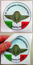 """Adesivo Stemma Storico """"1^ COMPAGNIA PARACADUTISTI - 1° GRUPPO TATTICO"""" (D.cm.9)"""