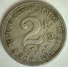 1916 Panama Copper Nickel 2 1/2 Centesimos Coin Very Fine Circulated