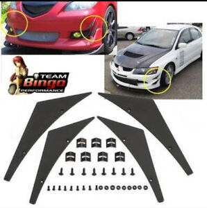 Universal Front Bumper Canards / Lip Splitter Fins Body Spoiler Canards set of 4