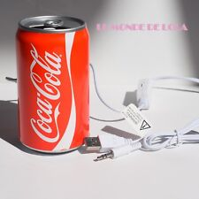 New COCA COLA STEREO SPEAKER PORTABLE USB Powered Licensed COKE iPhone Android