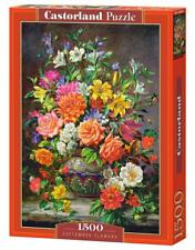 "Castorland Puzzle 1500 Pieces - SEPTEMBER FLOWERS- 27""x18.5"" Sealed box C-151622"