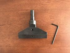 Fret Press Caul - Fit Arbor Press/Drill Press, Self-Leveling, Steel, 3/8 Shank