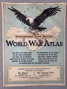 International News Service World War Atlas - The Patriot - Evening News - Penna.