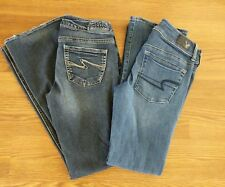 Silver American Eagle jeans sz 26x 31 4 short lot of 2 Aiko kick boot