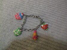 "Girl's Moose Toys Shopkins Charm Bracelet ~ 6 1/2"" Long"