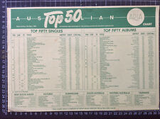 ARIA TOP 40 CHART 12th May 1985 Australian record shop FLIER flyer Phil Collins