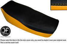 YELLOW AND BLACK VINYL CUSTOM FITS KAWASAKI Z 550 F 81-85 DUAL SEAT COVER ONLY