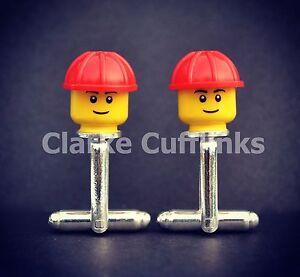 LEGO ® Mini Figure Builder Plumber Cufflinks Mens Present Gift Birthday Wedding