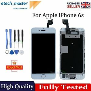 For iPhone 6s LCD Screen Replacement White Display Touch Digitizer + Home Button