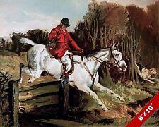 TALLY HO CRY FOX HUNT HORSE FOXHUNTING HUNTING ART PAINTING REAL CANVAS PRINT