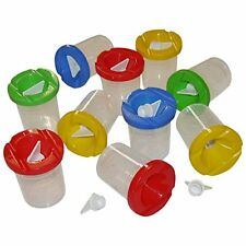 10 Non spill Paint Pots with Lids And Stoppers