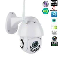 1080P WIFI IP Camera WHITE Wireless Outdoor CCTV HD Home Security IR Cam Fast