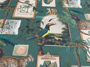 Tropical Brasil 100% French Cotton Fabric Crafts Curtain