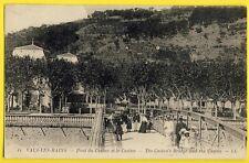 cpa 07 - VALS les BAINS (Ardèche) PONT du CASINO Animée The CASINO'S BRIDGE