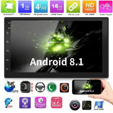 "2Din 7"" Quad Core Android 8.1 GPS Navi Wifi DVR Car Stereo MP5 Player FM Radio"