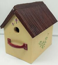 Cozy Birdhouse Pitched Roof Cottage w/Dragonflies/Ivy Accents~Lawn/Garden/Yard