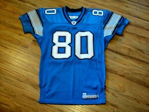 CHARLES ROGERS #80 DETROIT LIONS 2004 GAME ISSUED CUSTOM PRO CUT FOOTBALL JERSEY