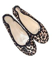J Crew Collection Evie Calf Hair Ballet Flats Slip On Size 9 Style H5501 $298