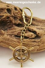 Schlüsselanhänger maritim als Steuerrad ca.11 x Ø 4,5 cm Messing