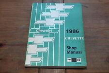 1986 Chevette Chevrolet ST35786 Chevy GM Shop Service Manual