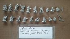 15mm Flames of War WWII US Airborne Engineers ( Winter )