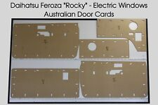 Daihatsu Feroza Rocky Door Cards Inc' Cargo. Electric Windows. Blank Trim Panels