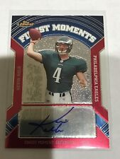 2007 Topps Finest Kevin Kolb Finest Moments Die Cut Auto Card Eagles