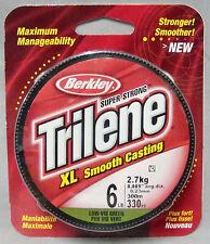 Berkley Trilene XL Smooth Casting 6lb x 300m Mono Line - Low Vis Green