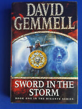 DAVID GEMMELL SWORD IN THE STORM 1ST EDITION 1ST PRINT HB RIGANTE SERIES BOOK 1
