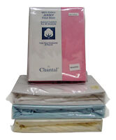 Small Double 4ft Cotton Jersey Fitted Sheet Available in Blue Cream Pink White