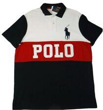 POLO RALPH LAUREN  SIZE XL  BIG PONY POLO SHIRT WHITE/NAVY/RED
