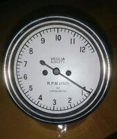 Veglia Borletti Tachometer WHITE FACE DUCATI 12000 rpm 4:1 Replica